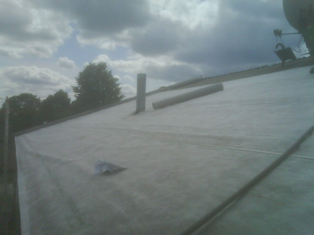 Second stage of the roof!