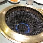 Grillen som var placerad i mitten av bordet!